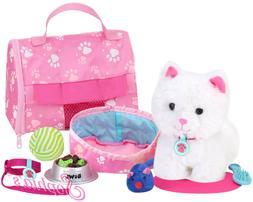 "Sophia's JL-KA Soft White Kitten & Accessory Set   18"" Doll"