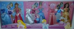 Disney Sparkling Princess 3 Dolls & Outfits Belle Cinderella