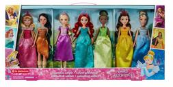 Disney PrincessSparkling Styles Set of 7 Dolls Brand New