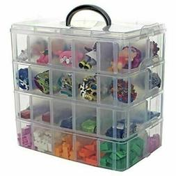 Stackable Toy Storage Container 40 Adjustable Compartments L