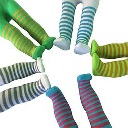 Striped Doll Tights - Set of 5 Striped Tights for 18 inch Do