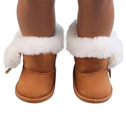 Sttech1 Plush Winter Warm Snow Boots Mini Shoes Doll Accesso
