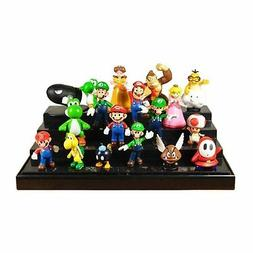 Super Mario Bros Lot 18 pcs Action Figure Doll Playset Figur