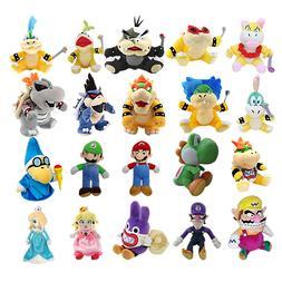Super Mario Bros Plush Dolls Stuffed Soft Mario Birdo Caterp