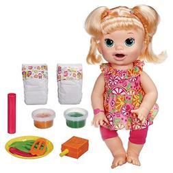 BABY ALIVE Super Snackin Snacks Sara Blonde Speaks English D
