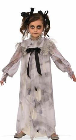 Sweet Screams Ghost Haunted Doll Child Girls Costume L Large