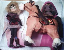 Disney Tangled the series Cassandra doll with Fidella horse
