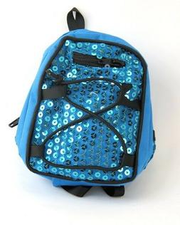 Teal Blue  Sequin backpack for 18'' dolls, by AMerican Fashi