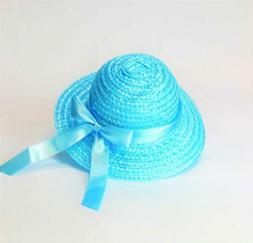 Teal Straw Hat  for 18'' Dolls by American Fashion World