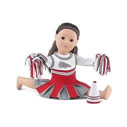 18 Inch Doll Clothes | Amazing Scarlet and Grey Team Cheerle