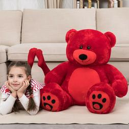 """Teddy Bear Lifesize Red 36"""" Stuffed Ted Toy for Girls Kids F"""