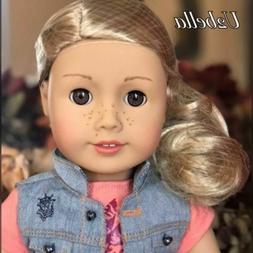 "American Girl TENNEY 18"" Doll Long Blonde Hair Brown Eyes Mu"