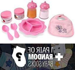 Time to Eat 8-Piece Feeding Set: Mine to Love Doll Accessory