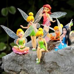 Tinkerbell Fairy Figures Girls Dolls Silvermist Rosetta Tink