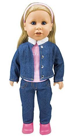 "Today's Girl Emma 18"" Caucasian Doll w/ Blonde Hair & Blue E"