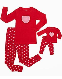 Leveret Kids & Toddler Pajamas Matching Doll & Girls Pajamas
