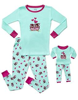Leveret Kids & Toddler Pajamas Matching Doll & Girls Pajamas