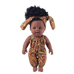 TUSALMO 2019 Newest 12 inch Toy Baby Black Dolls for Kids an