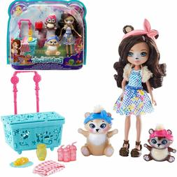 Toys For Girls Kids Picnic Doll Paws Playset for 3 4 5 6 7 8