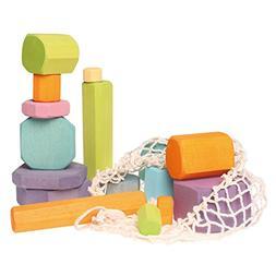 Grimm's Tree Slices - First Wooden Building Blocks Set for B