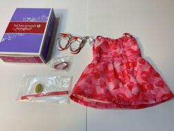 American Girl Dol lTruly Me Collection Red Hearts Ruffle Out