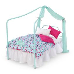 Truly ME American Girl Doll Canopy Bed Bedroom & Bedding Set