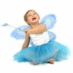 Turquoise Glitter Fairy Princess Dress Up - Matching Dress f
