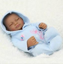 US 11Inch Soft Reborn Baby Dolls Realistic Newborn Black Boy