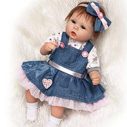 ZIYIUI New Version 18 inches Cute Silicone Reborn Baby New R