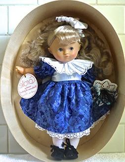 Vintage Corolle 1988 Catherine Refabert Doll in Blue Dress i