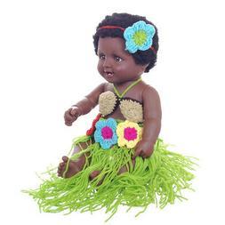 Vinyl 20 Inch Reborn African American Baby Girl Doll Coffee