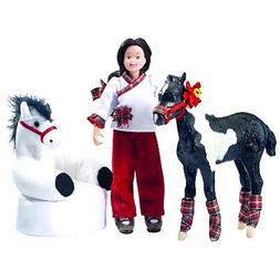 Breyer Waiting For Santa Horse and Doll Set
