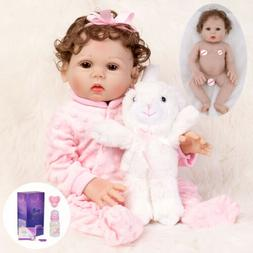 "Waterproof 18"" Reborn Baby Dolls Full Body Soft Silicone Vin"