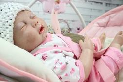 "Waterproof Reborn Baby Dolls Girl Full Body Silicone 20"" New"