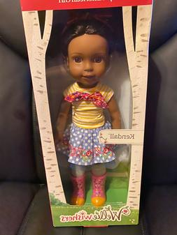 """American Girl Wellie Wishers Kendall Doll 14.5"""" Brand New in"""