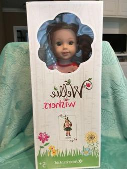 American Girl Wellie Wishers Willa Doll Hazel Eyes & Strawbe