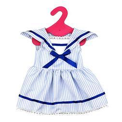 Fashion White & Blue Stripe Sailor Dress Set Clothing for 18