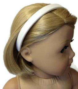 "White Headband made for 18"" American Girl Doll Clothes Acces"