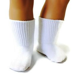 White Knit Sport Socks made for 18 inch American Girl Dolls