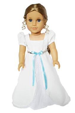 Brittany's My White Victorian Gown Compatible with American