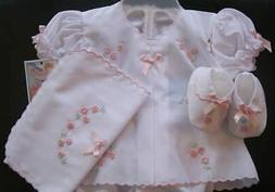 Will'beth Newborn Baby Girl Fancy Gift Diaper Set Booties Bu