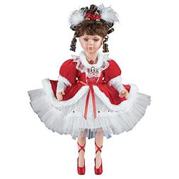 Collections Etc Women's Nancy Red Dress Porcelain Ballerina