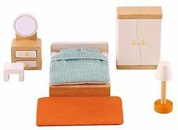 wooden doll house furniture master bedroom set